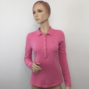 3/$15🔥 Lacoste Pink Polo Shirt Women's 38/6/S